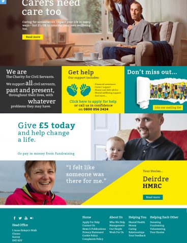 The Charity for Civil Servants – 2018 Homepage Launch